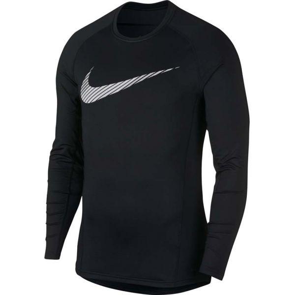 Nike NP THRMA TOP LS GFX černá M - Pánské sportovní triko