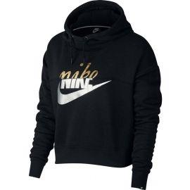 Nike NSW RALLY HOODIE METALLIC - Dámská mikina s kapucí