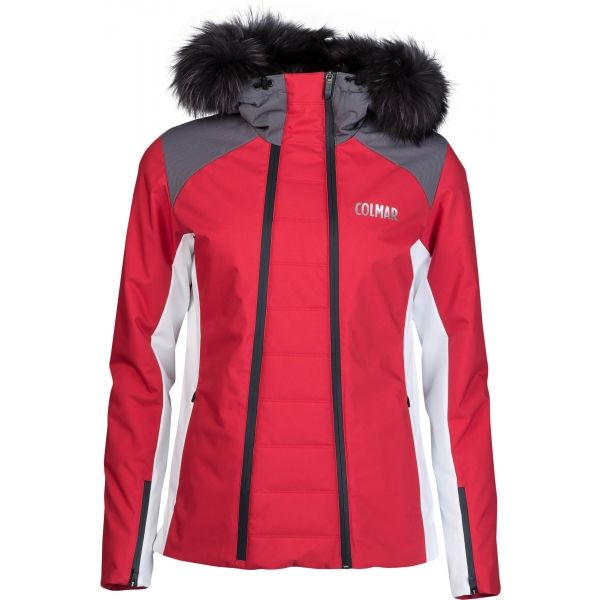 Colmar L. SKI JACKET+FUR červená 38 - Dámská lyžařská bunda