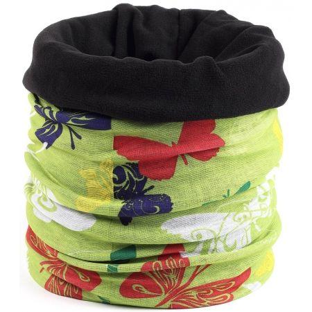 Finmark CHILDREN'S MULTIFUNCTIONAL SCARF - Children's multifunctional scarf with fleece