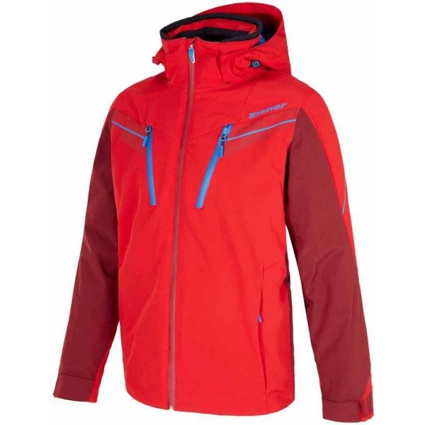 Ziener TILTON RED - Pánska lyžiarska bunda