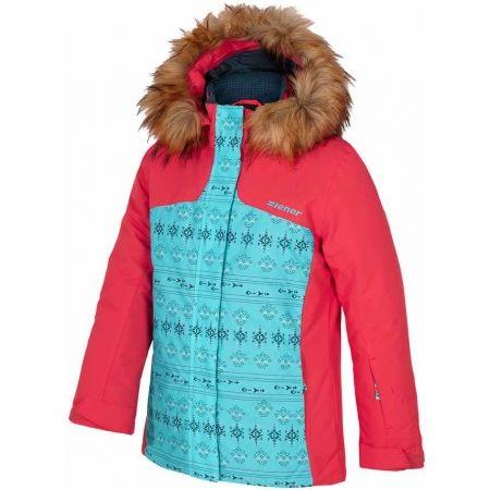 Dívčí lyžařská bunda - Ziener ASINA RED - 1