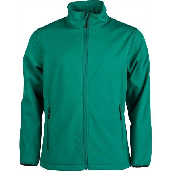 Kensis RORI zelená S - Pánska softshellová bunda