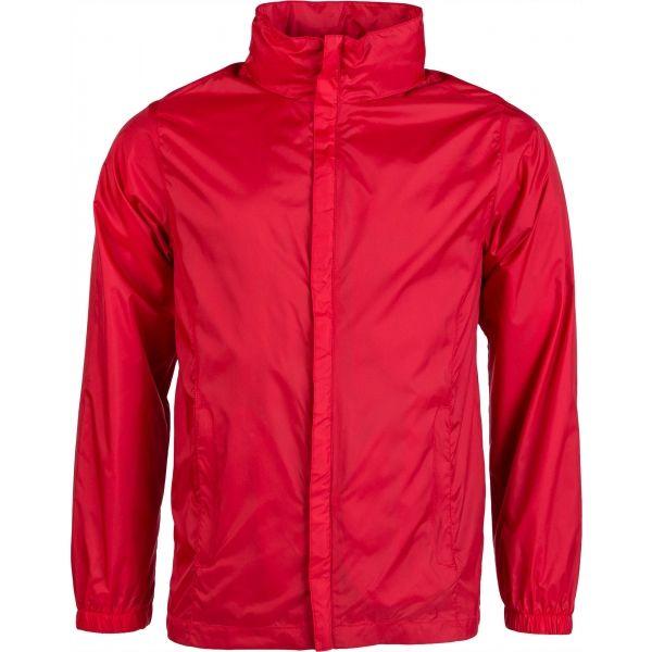 Kensis WINDY červená XXL - Pánská šusťáková bunda