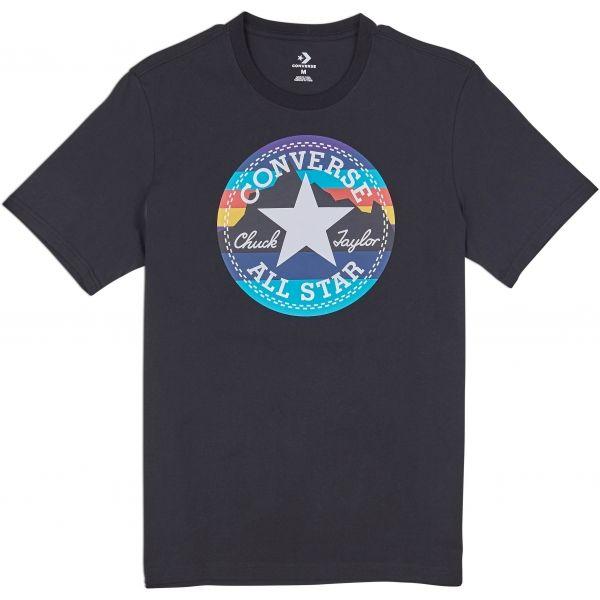 Converse MOUNTAIN CHUCK PATCH TEE fekete L - Férfi póló