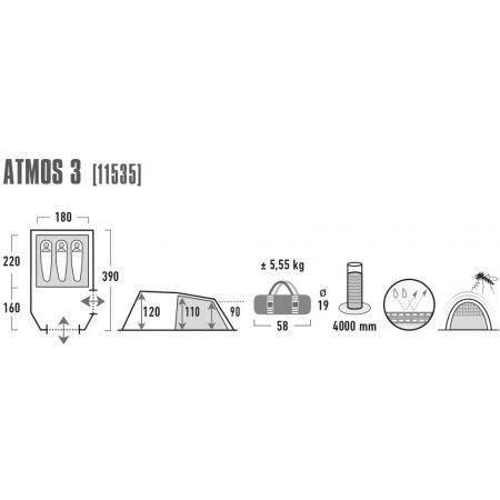 Rekreační stan - High Peak ATMOS 3 - 3
