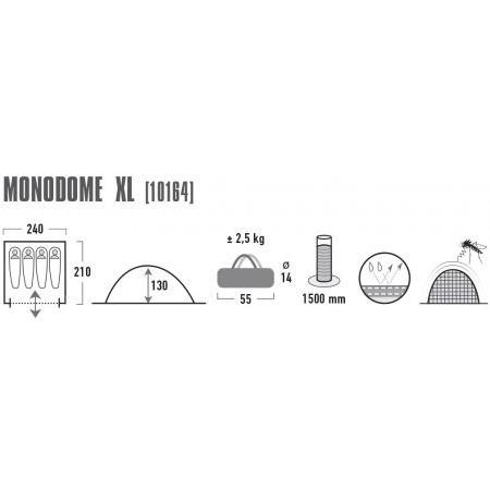 Rekreační stan - High Peak MONODOME XL - 3