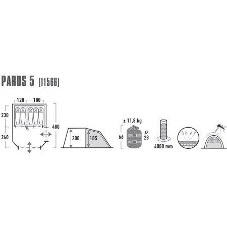 Rodinný stan - High Peak PAROS 5 - 4