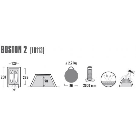 Rekreační stan - High Peak BOSTON 2 - 3