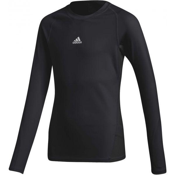 adidas ASK LS TEE Y černá 164 - Dětské tričko