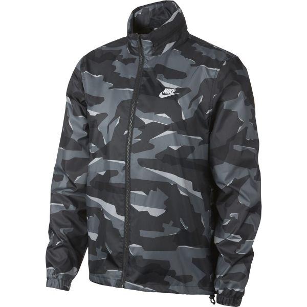 Nike CE JKT JD WNDBRKR CAMO šedá 2XL - Pánská bunda