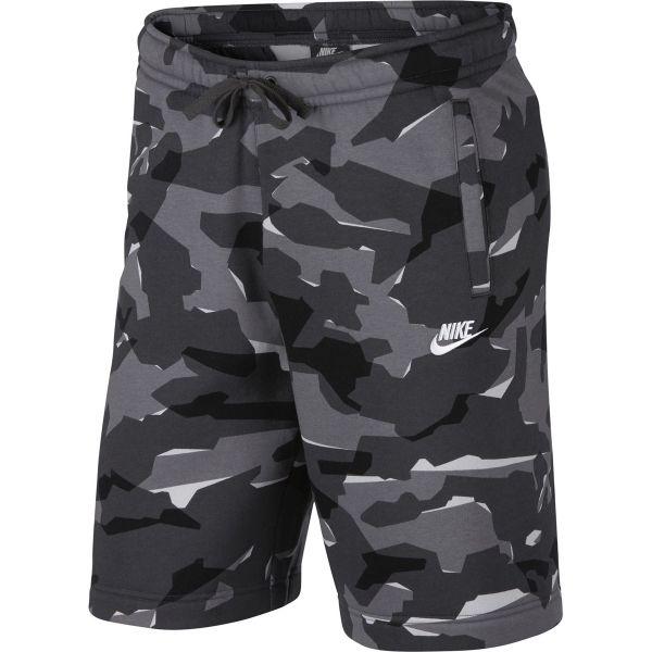 Nike NSW CLUB CAMO SHORT szürke M - Férfi rövidnadrág