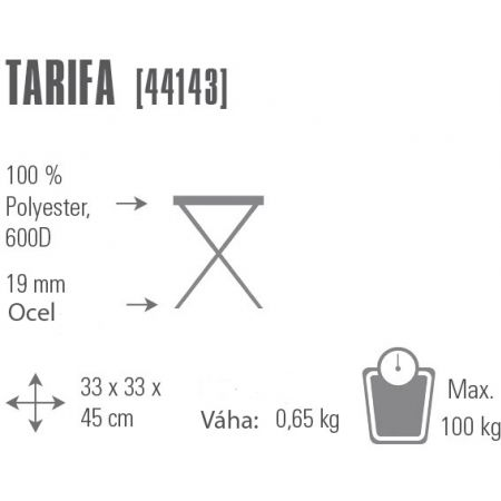Rozkladacia stolička - High Peak CAMPING STOOL TARIFA - 2