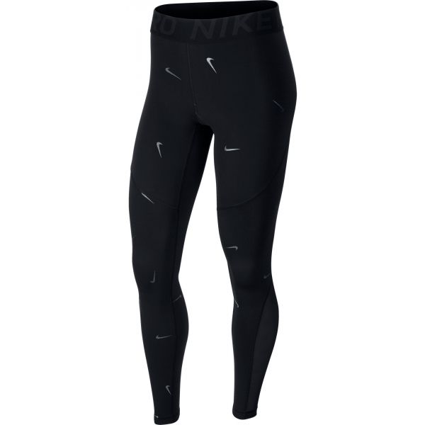 Nike NP WM TIGHT 7/8 CHAMPAGNE černá XL - Dámské legíny