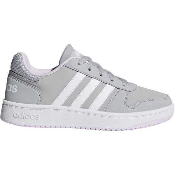 adidas HOOPS 2.0 K sivá 35 - Detská obuv