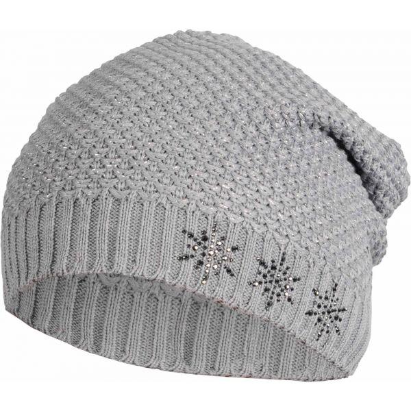 R-JET UNI ŠMOULA - PRODLOUŽENÁ ČEPICE šedá UNI - Dámská prodloužená čepice