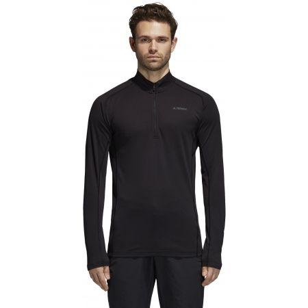Pánske športové tričko - adidas TRACE ROCKER 1/2 LS - 4