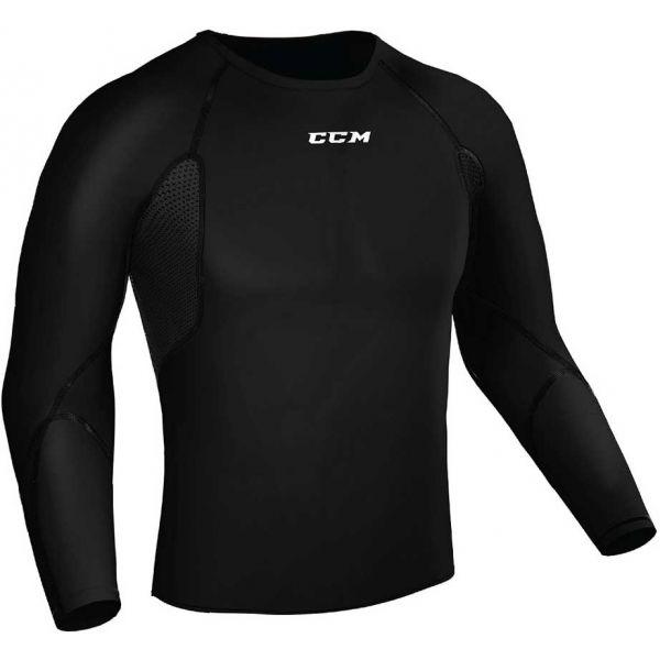 CCM COMPRESSION L/S SR  XL - Pánské funkční triko