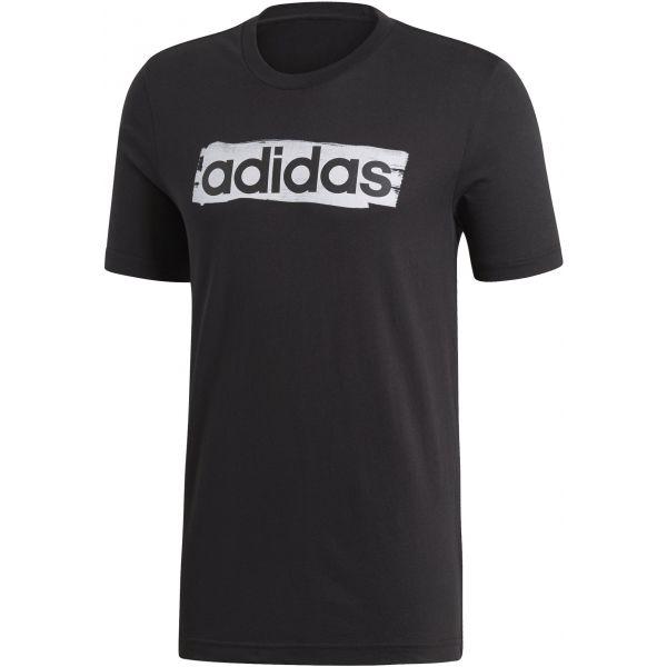 adidas E LIN BRUSH TEE černá M - Pánské triko