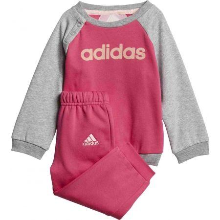 adidas LOGO FULL ZIP HOODED JOG - Trening copii