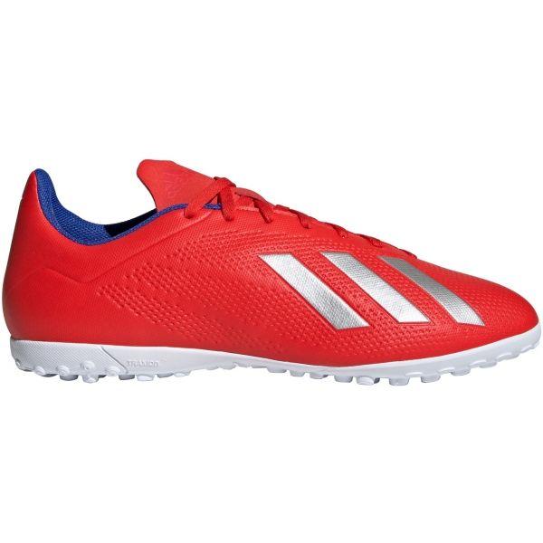 adidas X 18.4 TF červená 8.5 - Pánské kopačky