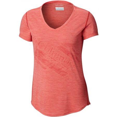 Dámské sportovní tričko - Columbia TRINITY TRAIL 2.0 GRAPHIC SHORT SLEEVE - 1