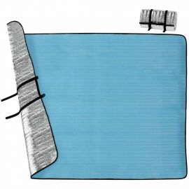 Crossroad MATRACE 190X150X0,25CM - Aluminium sleeping pad