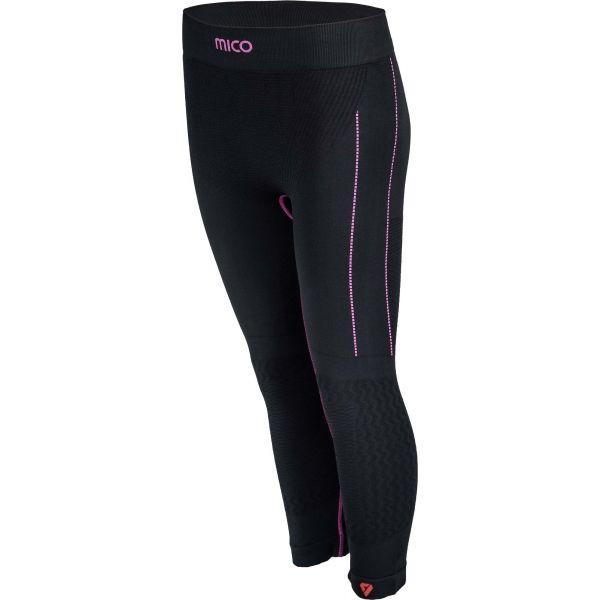 Mico 3/4 TIGHT PANTS fekete L - Funkcionális aláöltözet