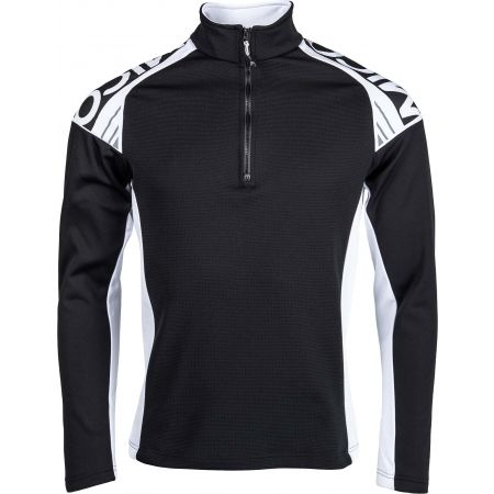 Мъжка блуза - Mico HALF NECK ZIP SHIRT - 1