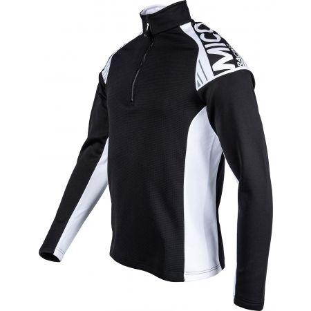 Мъжка блуза - Mico HALF NECK ZIP SHIRT - 2