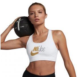 Nike SWOOSH MTLC FUTURA BRA - Дамско спортно бюстие