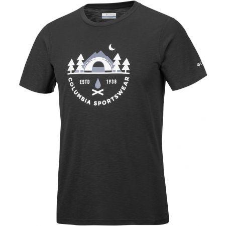 Pánske tričko - Columbia NELSON POINT GRAPHIC SHORT SLEEVE TEE - 1