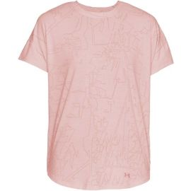 Under Armour UNSTOPPABLE BURNOUT SHORTSLEEVE - Koszulka damska
