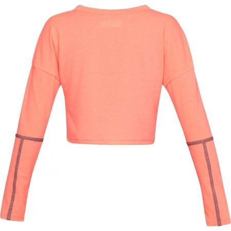Dámský top - Under Armour LIGHTER LONGER CROPPED CREW - 2