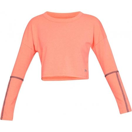 Dámský top - Under Armour LIGHTER LONGER CROPPED CREW - 1
