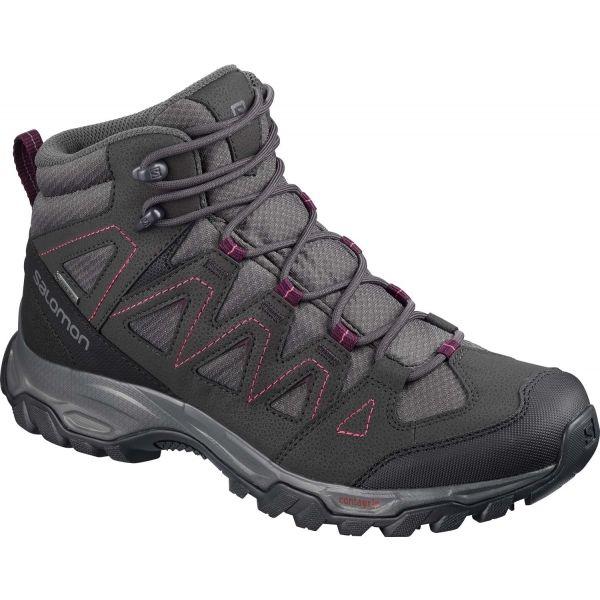 Salomon LYNGEN MID GTX W šedá 7 - Dámská hikingová obuv