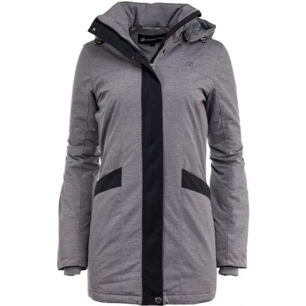 ALPINE PRO WESTINA 2 šedá XS - Dámský kabát