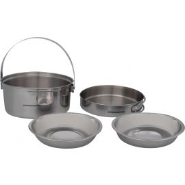 Crossroad DUOS - Stainless steel mess kit with two plates