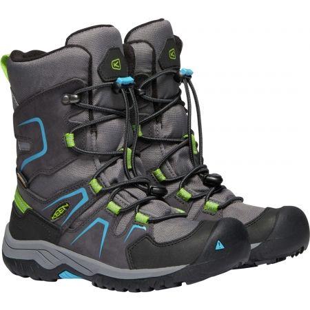Juniorská zimná vysoká obuv - Keen LEVO WINTER WP Y - 4