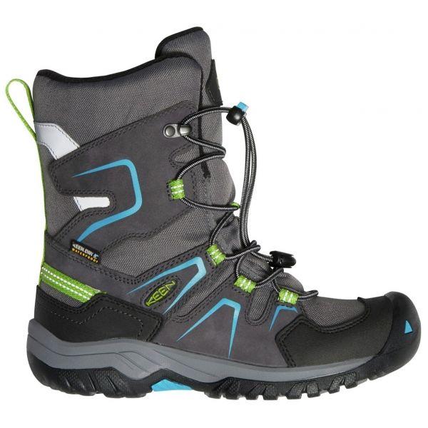 Keen LEVO WINTER WP Y - Juniorská zimná vysoká obuv