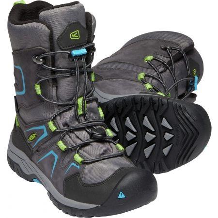 Juniorská zimná vysoká obuv - Keen LEVO WINTER WP Y - 5
