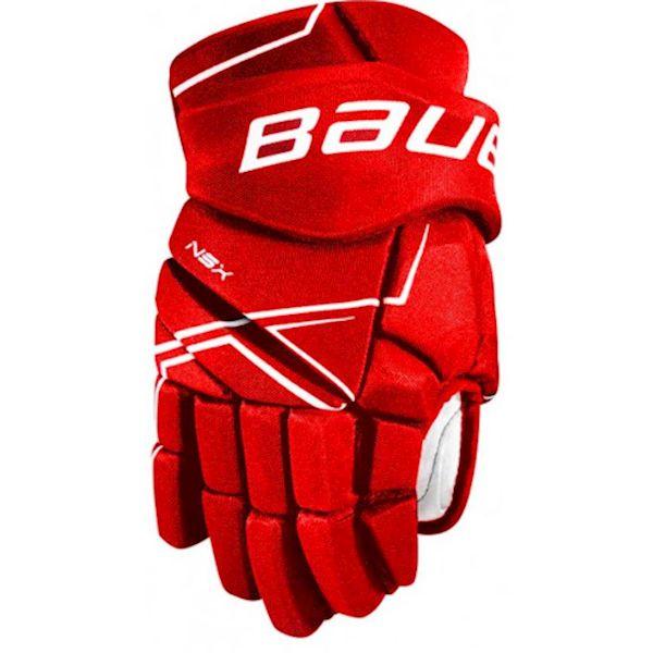 Bauer NSX GLOVES SR červená 14 - Hokejové rukavice