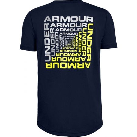 Boys' T-shirt - Under Armour BACK BOX GRAPHIC SS - 2