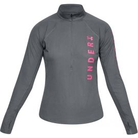 Under Armour SPEED STRIDE SPLIT WORDMARK HALF ZIP - Дамска тениска