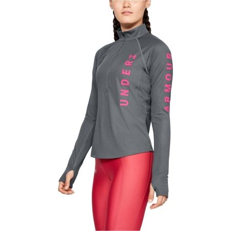 Dámské triko - Under Armour SPEED STRIDE SPLIT WORDMARK HALF ZIP - 4