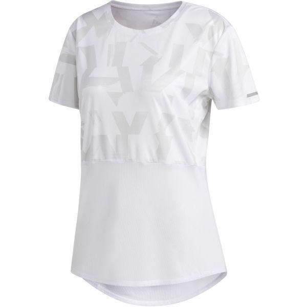 adidas OWN THE RUN TEE biela XS - Dámske bežecké tričko