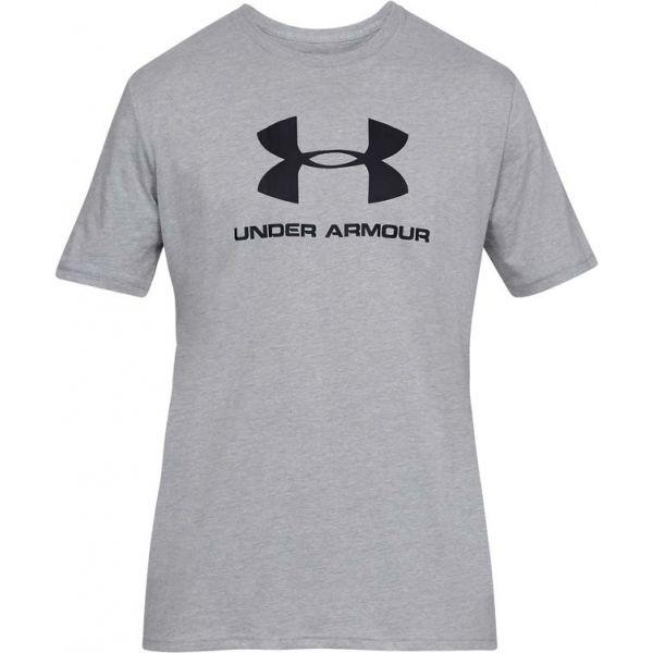 Under Armour SPORTSTYLE LOGO SS šedá L - Pánské triko