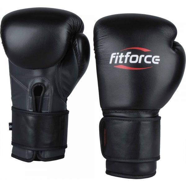Fitforce PATROL čierna 10 - Tréningové boxerské rukavice