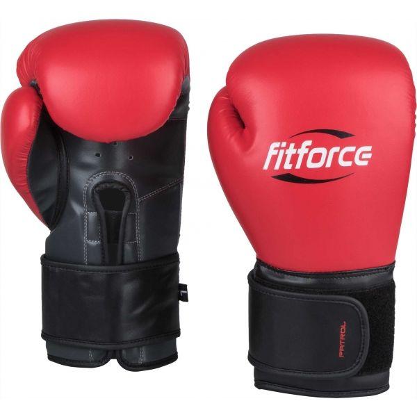 Fitforce PATROL červená 12 - Tréninkové boxerské rukavice