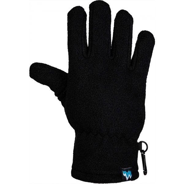 Lewro NERGUI černá 8-11 - Dětské fleecové rukavice